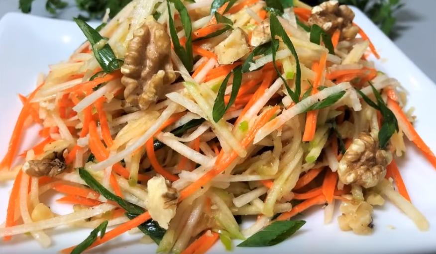 Рецепт витаминного салата из черной редьки
