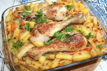 Запеченый картофель с мясом в духовке!