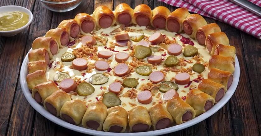 Вот так нужно выкладывать тесто на противень - секреты идеальной пиццы!