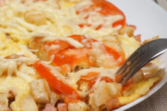 Завтрак на скорую руку из хлеба, колбасы и яиц! Пальчики оближешь!