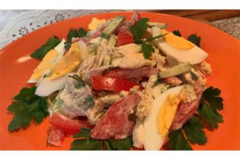 Самый лучший салат с курицей и пекинской капустой!