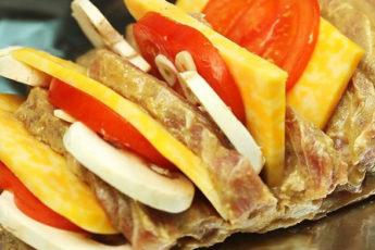 Невероятно вкусное мясо «Гармошка»