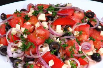 Быстрый и полезный салат за пару минут!
