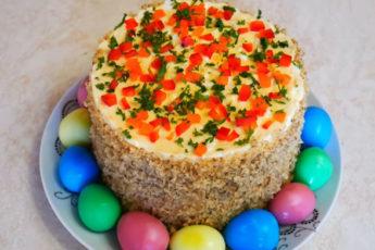 Сытный Пасхальный салат с перепелиными яйцами!