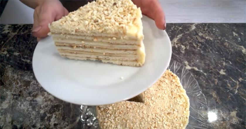 Вкусный торт с заварным кремом на сковороде всего за 30 минут!