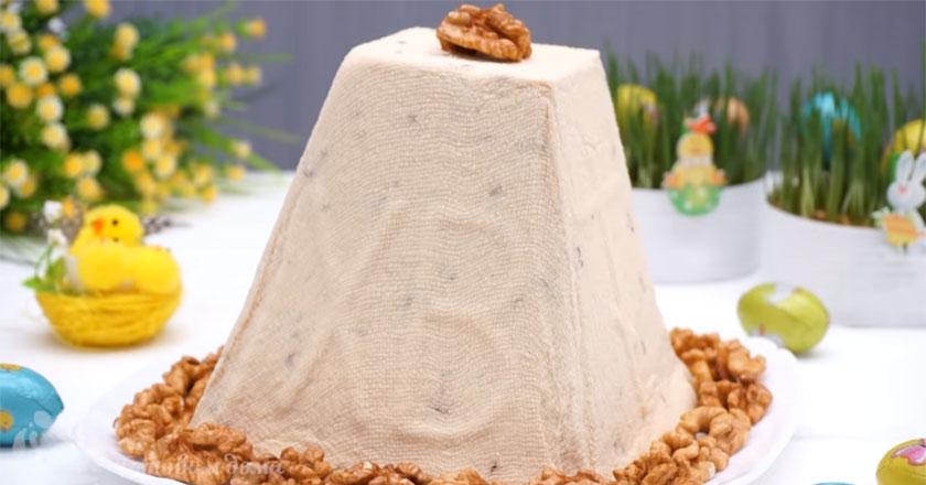 Карамельная творожная Пасха - лучший рецепт на праздник и выпекать не нужно!