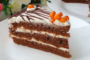 Быстрый и вкусный торт с облепихой не нужно выпекать!