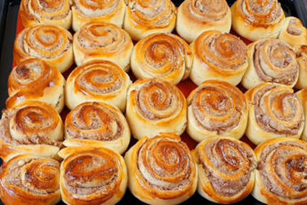 Мягкие и воздушные булочки с творогом и шоколадом за 30 минут!