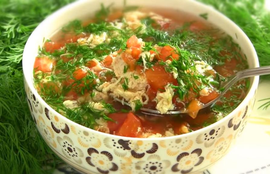 Диетический суп с помидорами за 10 минут! Проще не бывает!