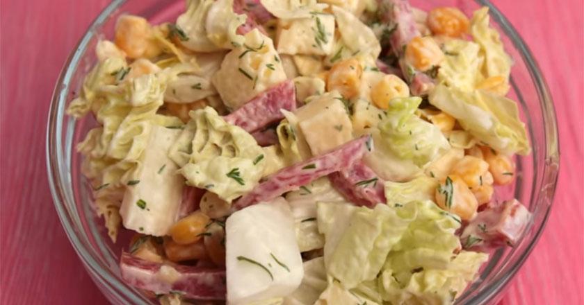 Летний салат! Готовиться и съедается моментально!