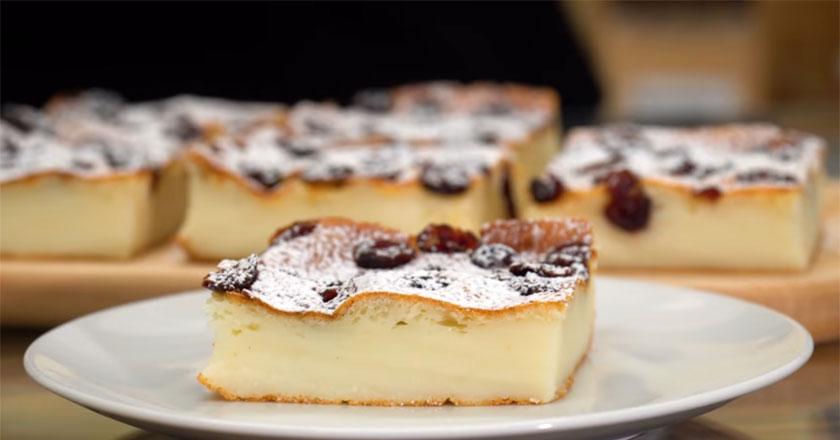 Полезное творожное пирожное! простой рецепт десерта без муки и масла!