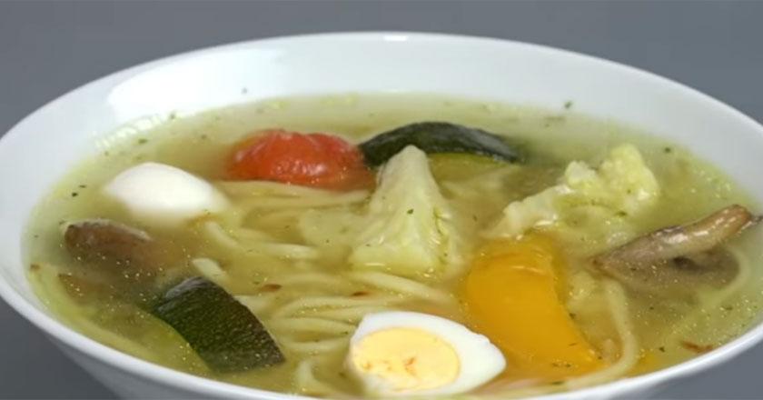 Вкусный овощной супчик с грибами за 30 минут!