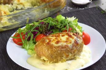 Фаршированный заливной картофель! Необычный вкусный рецепт!