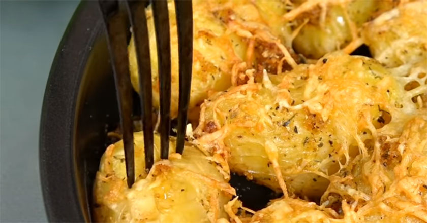 Запеченый ароматный картофель! Легко и быстро готовить!