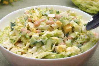 Легкий салат с капустой на каждый день!