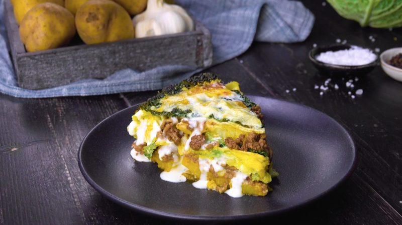 Оригинальная капустная лазанья с мясом: простой и очень вкусный летний рецепт.
