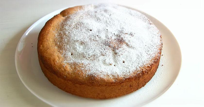 Вкусный и ароматный пирог с черешней к чаю!