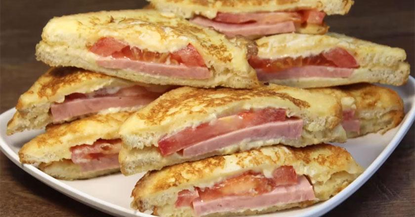 Горячие сэндвичи на завтрак за 5 минут!
