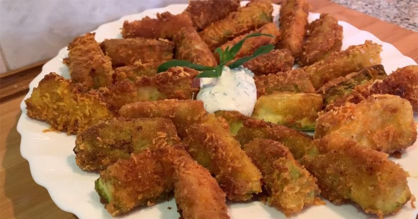 Хрустящая закуска из молодых кабачков! Такого вкусного блюда вы еще не пробовали!