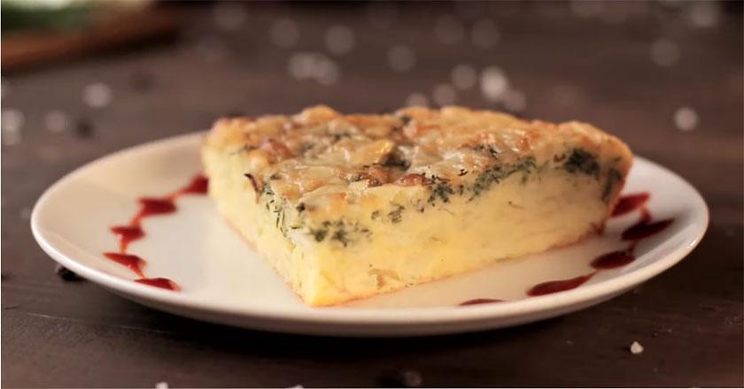 Сочный капустный пирог-торт! Идеальная закуска за 5 минут!