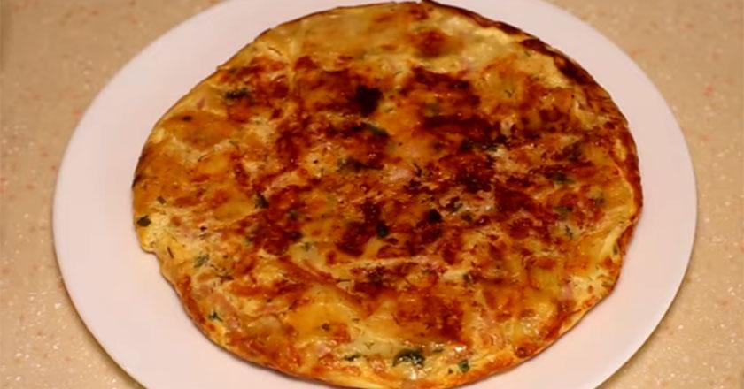 Пирог с ветчиной и сыром из лаваша!
