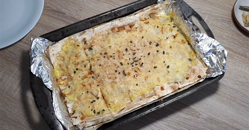 Пирог из лаваша с рыбой! Хочется есть и есть!