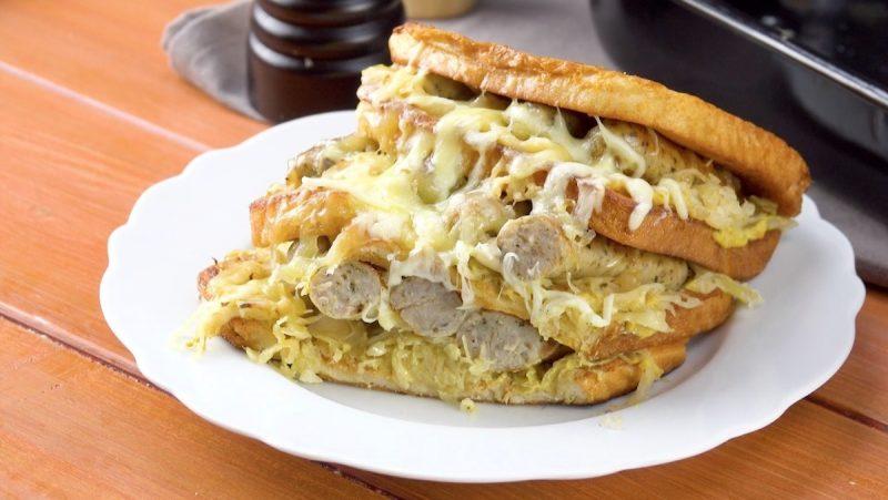Французские тосты с начинкой в духовке: целых два вкуснейших варианта.