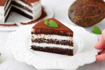 Шоколадно-кокосовый торт без муки и без сахара! Правильные сладости могут быть вкусными!