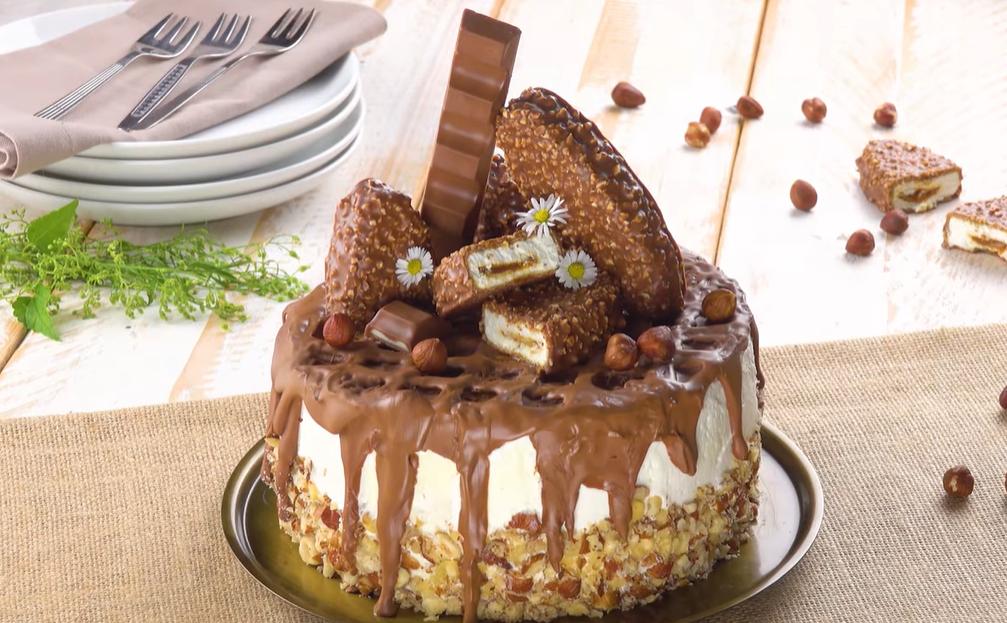 Торт Киндер Макси Кинг: красивейший рецепт для сладкого шедевра.