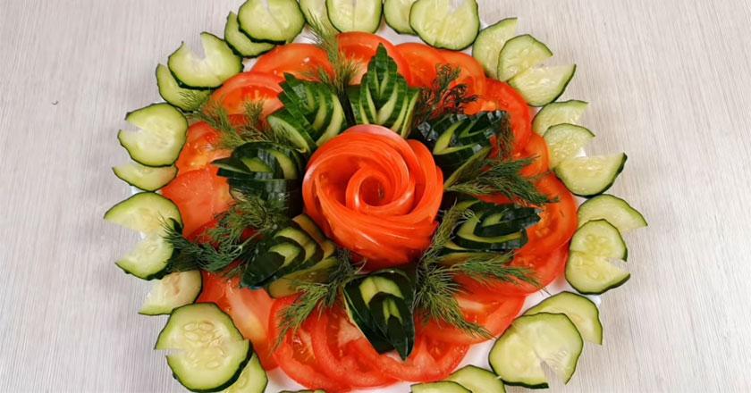Овощная нарезка - как красиво оформить?
