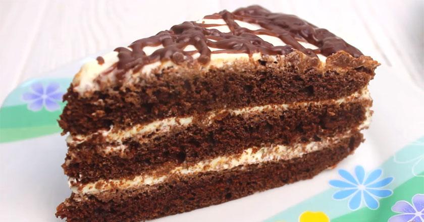 Пикантный тортик на кефире! Такого десерта вы еще не пробовали!