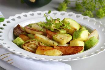Картошка с молодыми кабачками - вкуснее не бывает!