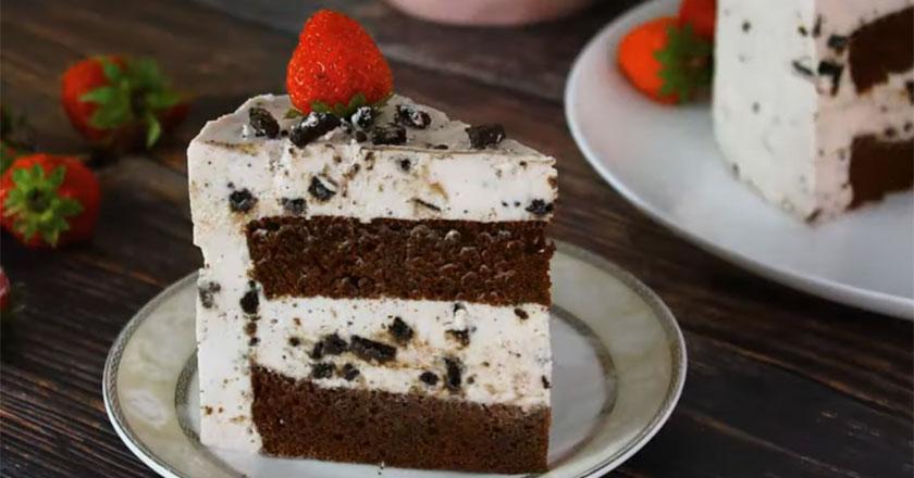 Самый вкусный десерт - торт мусс с клубникой!