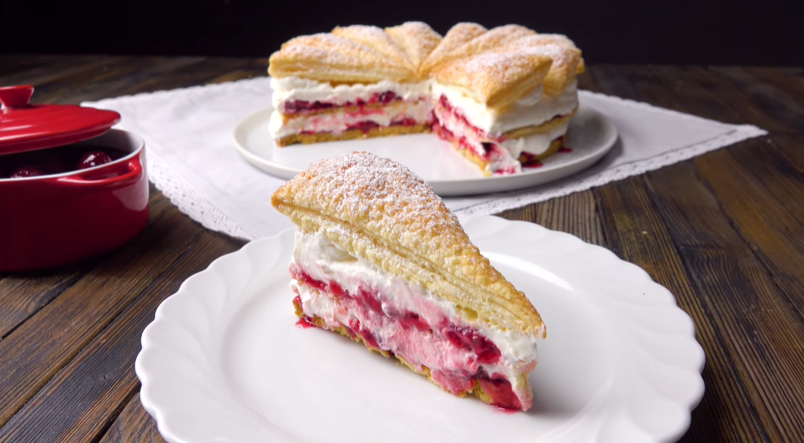 Воздушный торт с вишней. Нежнейший экзотический десерт из северной Германии.