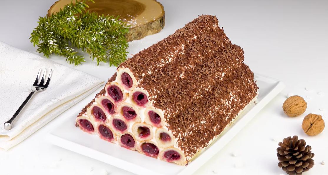 Вишневый торт Монастырская изба - эта пирамида покорит ваше сердце!