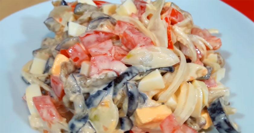 Салат из баклажанов - 15 минут и готово!