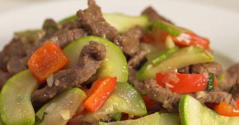 Говядина с кабачками по-китайски! Такого мясного блюда вы еще не ели!