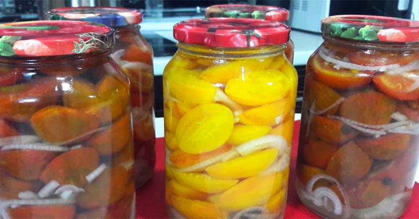 Консервированные томаты на зиму. Рецепт легче легкого!