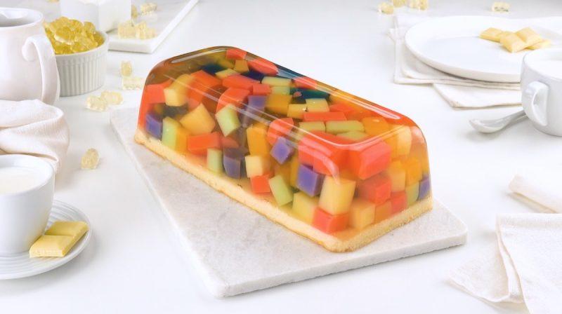 Готовим оригинальный и вкусный десерт из жевательного мармелада. Красота!