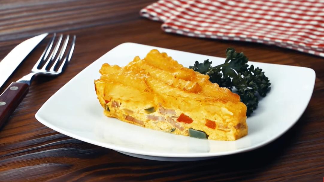 Не просто омлет, а настощий картофельный торт - с ветчиной и овощами