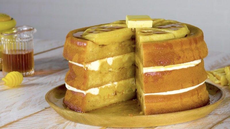 Бисквитный торт с вафлями: оригинальный и очень вкусный рецепт.