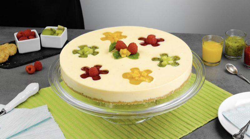 Фруктовый торт без выпечки: простой, оригинальный и невероятно красивый десерт.