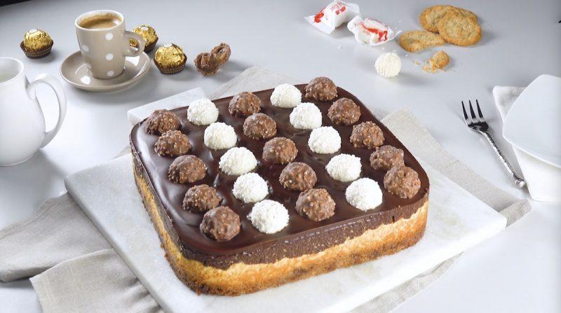 Роскошный чизкейк с конфетами: простой, вкусный и очень красивый рецепт к чаю.