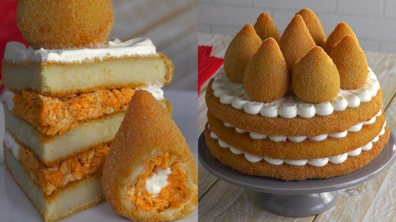 Кошинья - бразильский торт с крокетами: самое оригинальное блюдо из курицы!