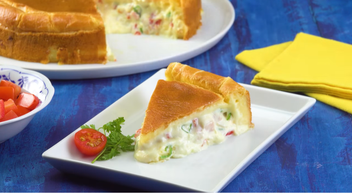 Простой и вкусный пирог с овощами - идеально на каждый день.