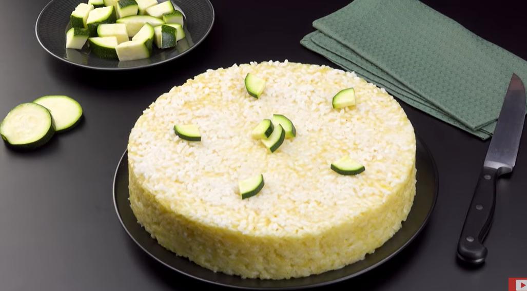 Готовим вкуснейший рисовый пирог с сыром и цуккини