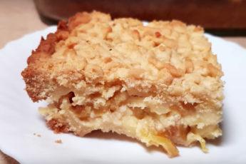 Вкусный пирог с необычной начинкой - стоит попробовать!