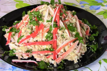 Салат с тунцом и кунжутом