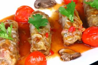 «Китайские голубцы» - с пекинской капустой, в кисло-сладком соусе. Вкуснятина на новогодний стол 2020.