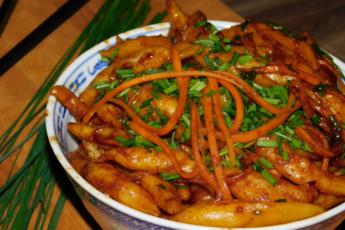 Родные славянские галушки… по-азиатски. Оригинальный рецепт – ароматно, пряно, остренько.